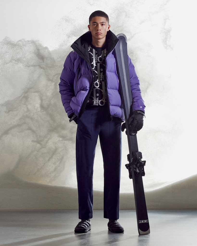 A look from the Dior men's ski capsule collection.