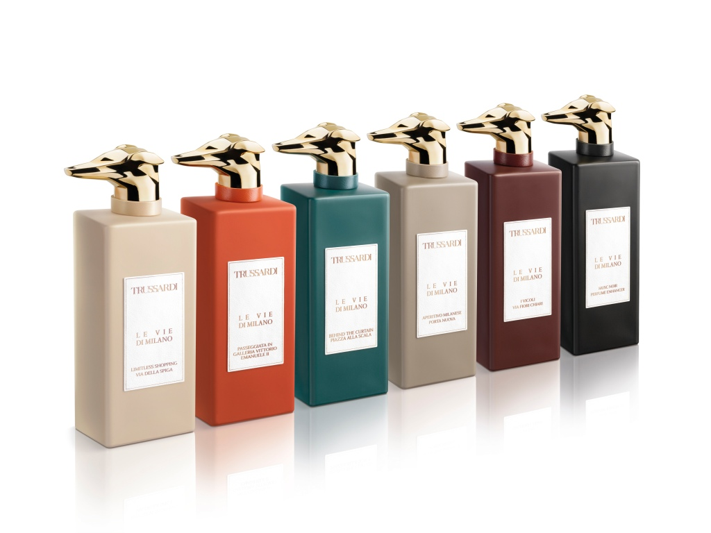 "The Trussardi ""Le Vie di Milano"" collection of fragrances."