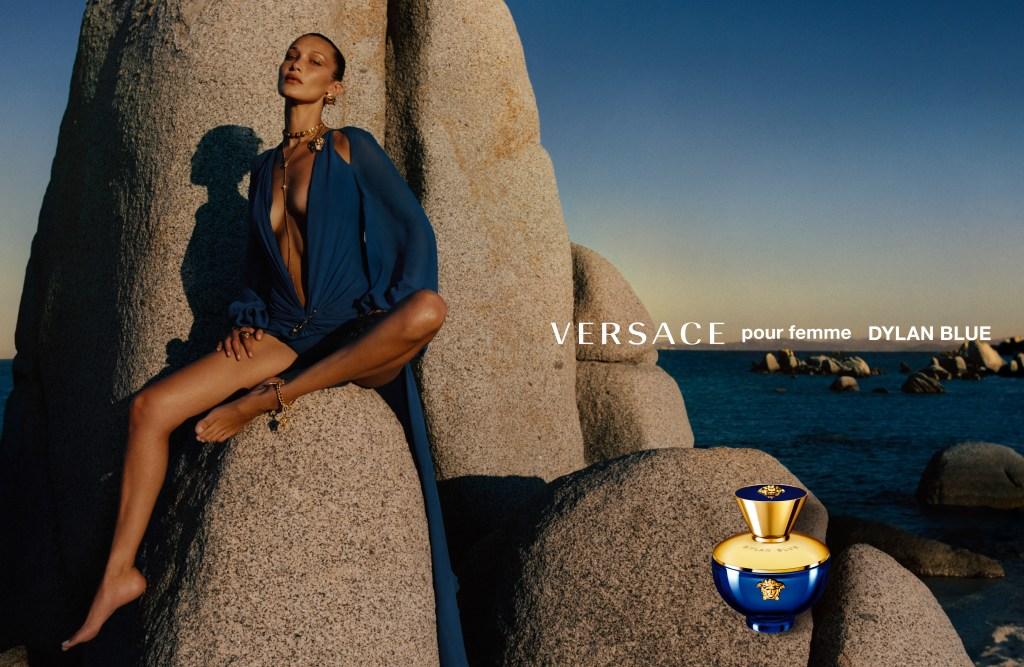 Bella Hadid in Versace's new ad campaign.