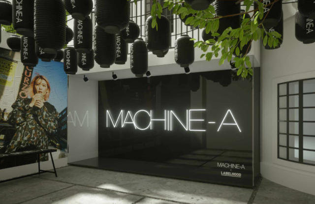 Visual illustration of Machine-A pop-up at Labelhood Shanghai.