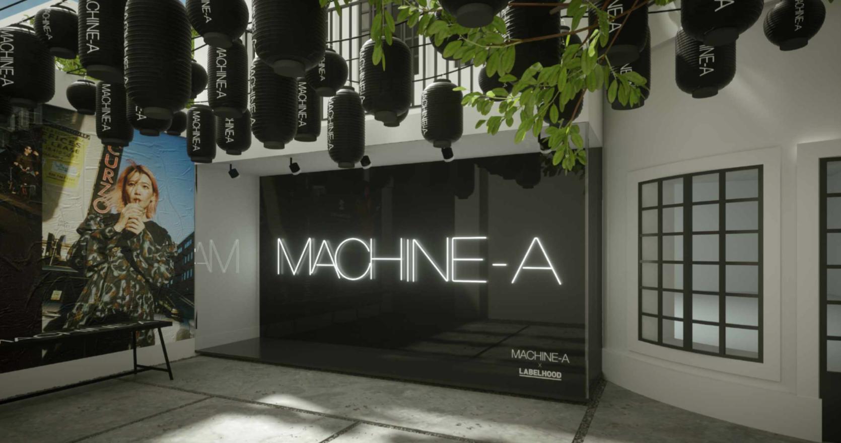 Visual illustration of Machine-A pop-up at Labelhood Shanghai.