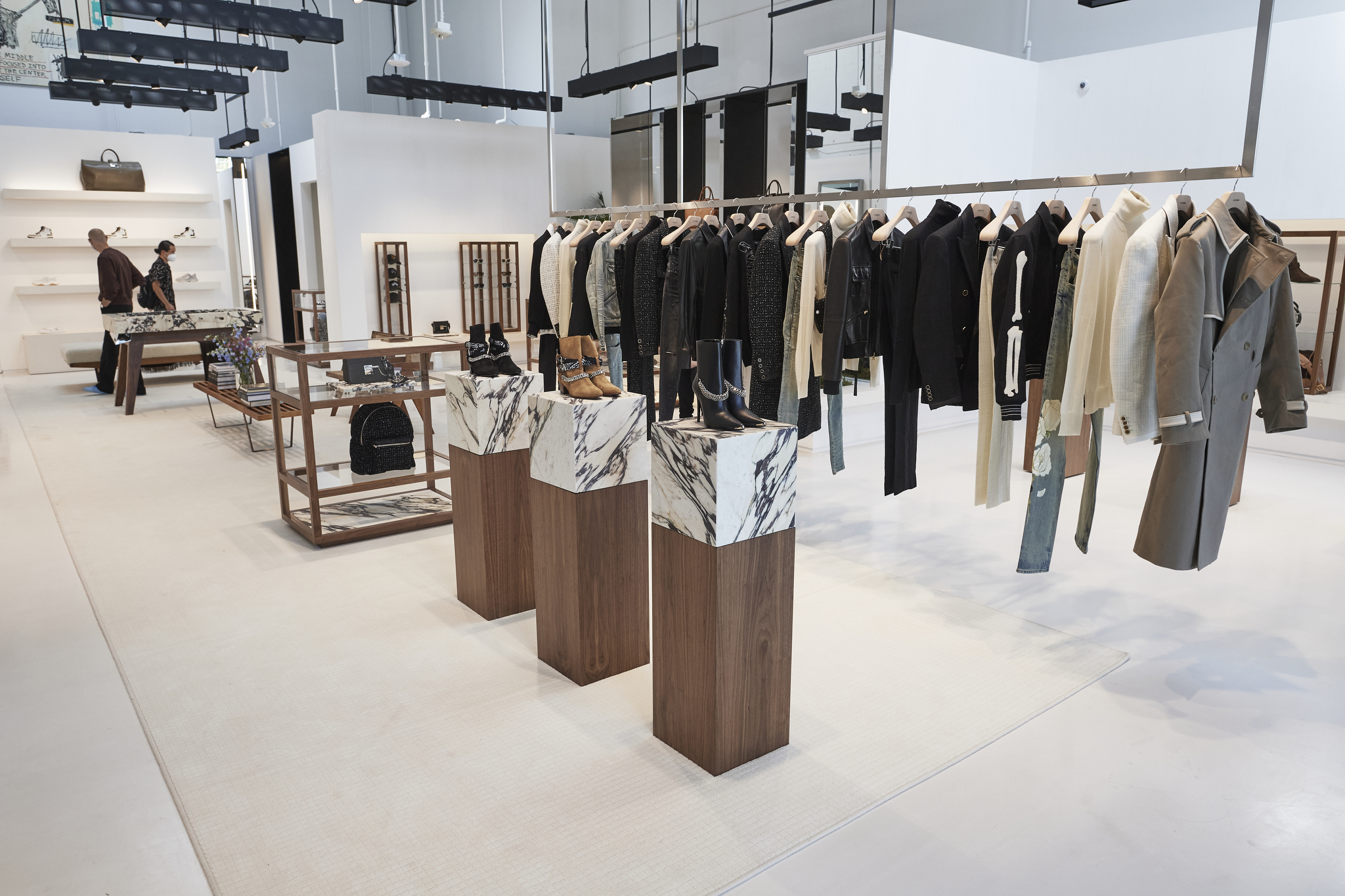 The interior of Amiri's flagship on Rodeo Drive.