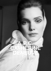 A.P.C. Catherine Deneuve campaign