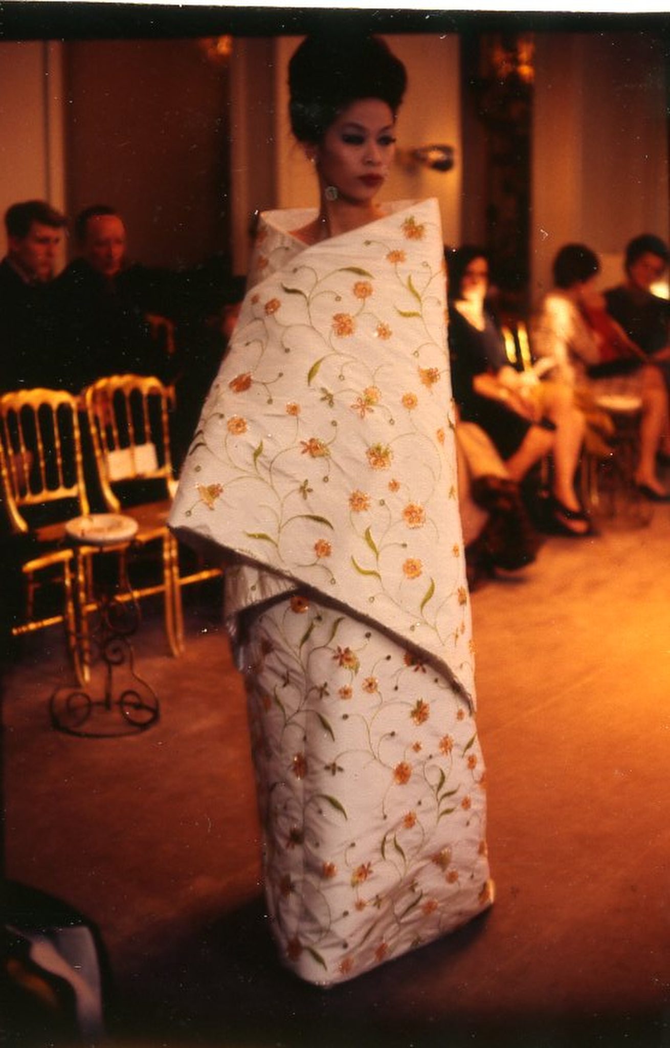 A look from Balenciaga's 1963 summer couture show in Paris