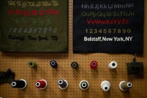 Inside the Belstaff store.