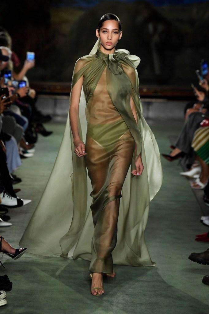 Sheer green goddess dressing from fall 2020.