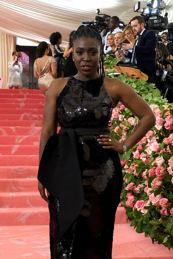 P.r. Tenique Bernard cheered Maxwell on from the Met Gala sidelines.