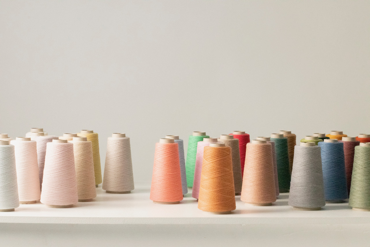 Spools showing the Cariaggi's fall 2021 Bliss range.