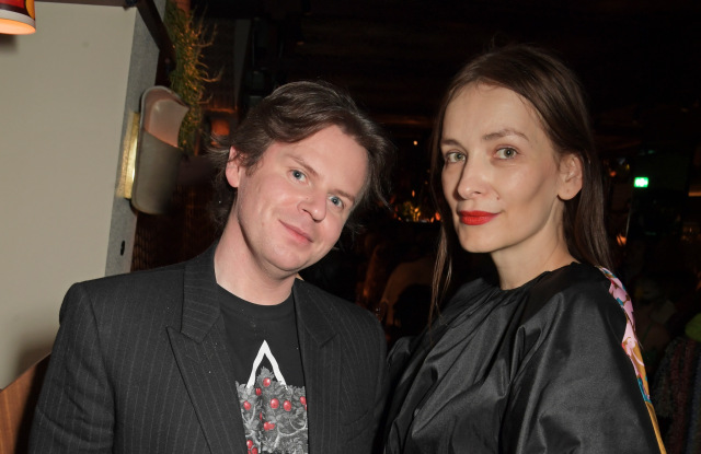LONDON, ENGLAND - FEBRUARY 17:   Christopher Kane and Roksanda Ilincic attend the LOVE Magazine LFW Party, celebrating issue 23 at The Standard, London on February 17, 2020 in London, England. LOVE magazine is welcoming Ben Cobb as Editor-In-Chief Men's, Graham Rounthwaite as Creative Director, and Oliver Volquardsen as Fashion Director. (Photo by David M. Benett/Dave Benett/Getty Images for LOVE Magazine)