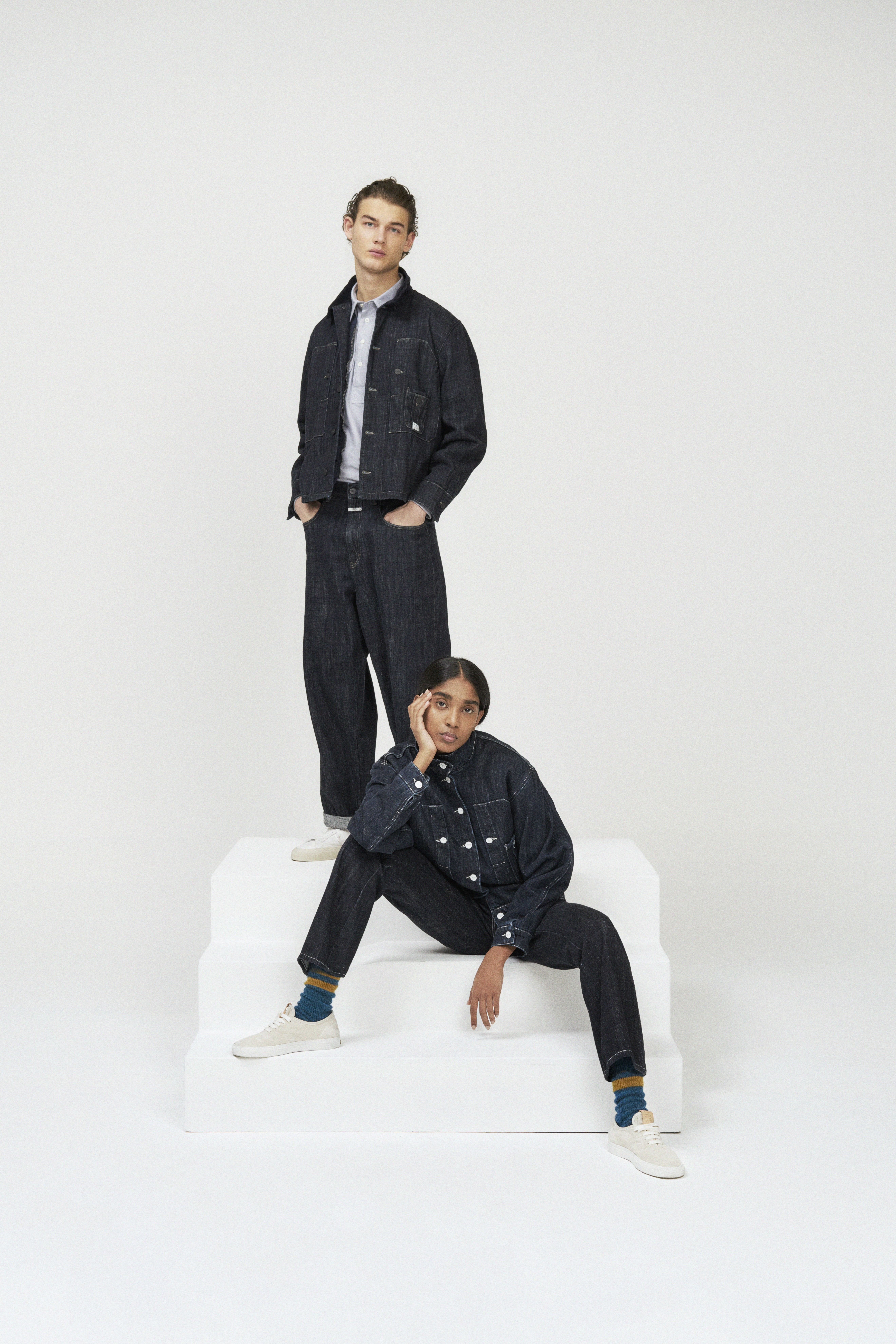 Looks from the Closed x Nigel Cabourn capsule.