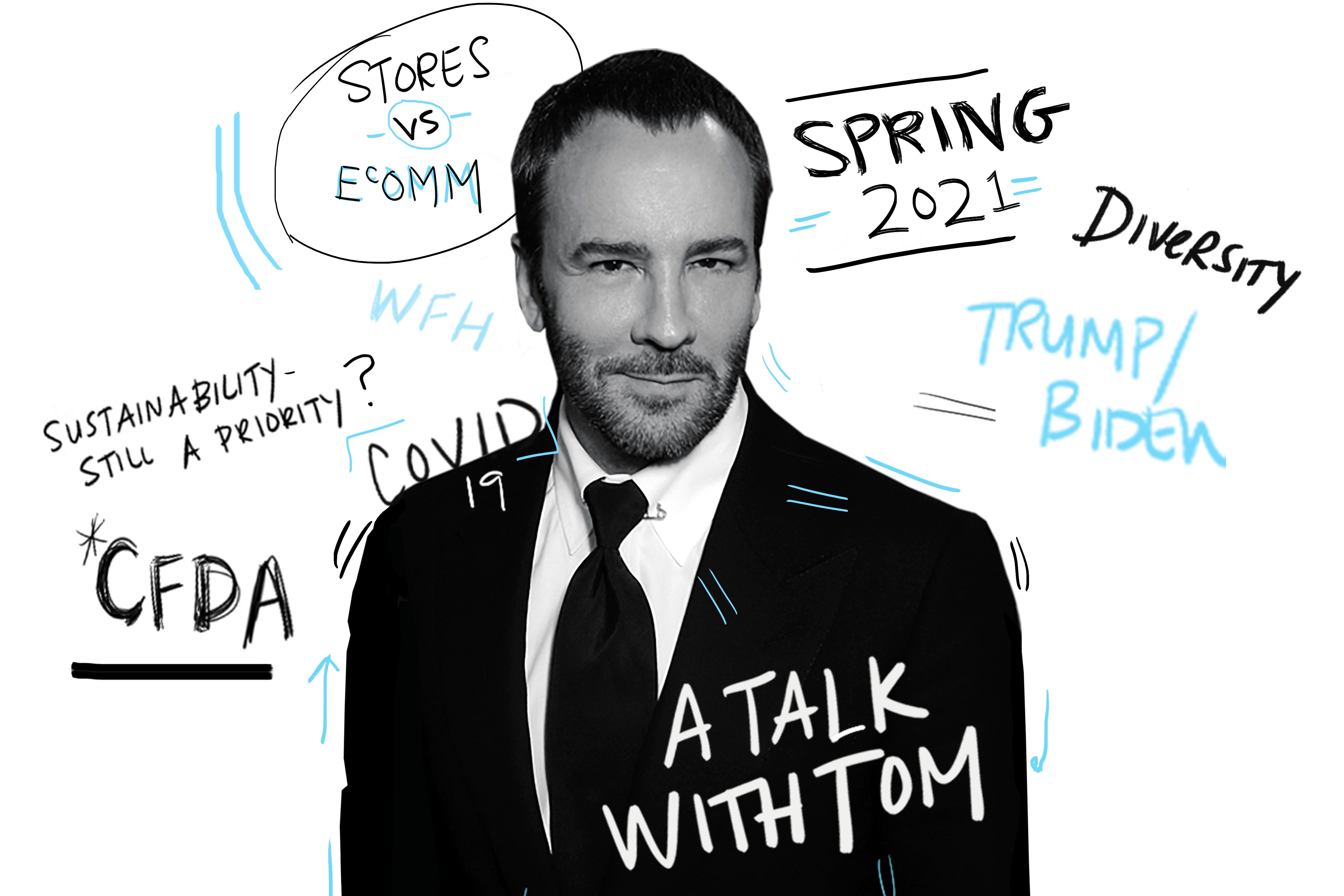 "When Tom Ford became chairman of the CFDA last year, he couldn't have imagined the traumas ahead. Now, he wants to remain in his post ""until some of these problems are, if not solved, then well on the way to being solved."""