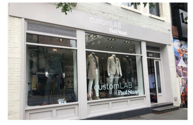 The Paul Stuart CustomLab store in SoHo.