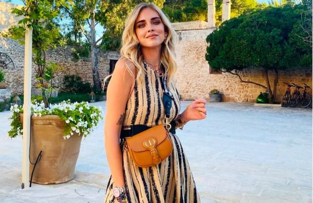 Chiara Ferragni wearing the Dior Bobby