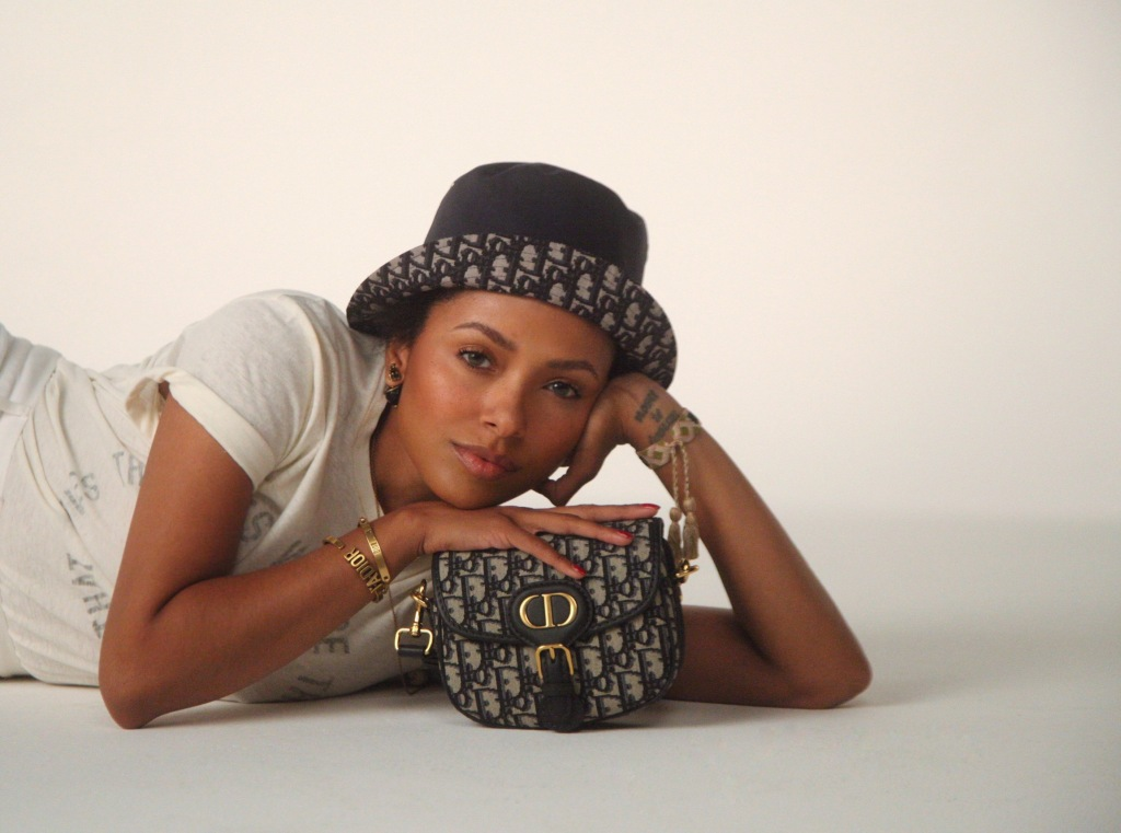 Kat Graham with the new Dior Bobby