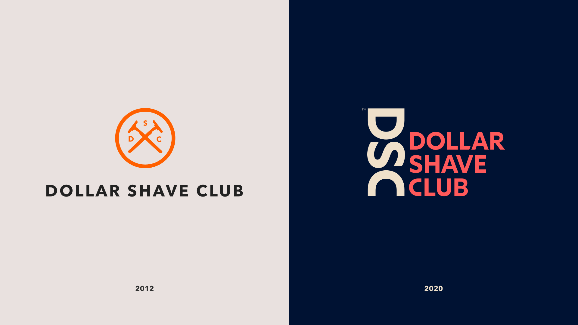 Dollar Shave Club's old and new logo