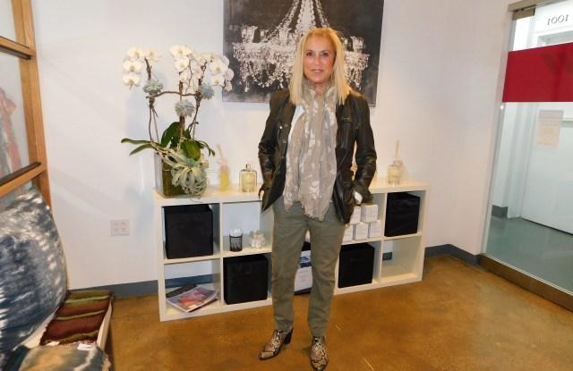 Gregor Simmons in her new showroom.