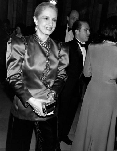 Designer Carolina Herrera attends the CFDA awards gala at the New York Public Library on January 20, 1985.