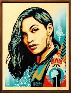"""Shepard Fairey work donated for NYAA's """"Artists for Artists"""" auction."""