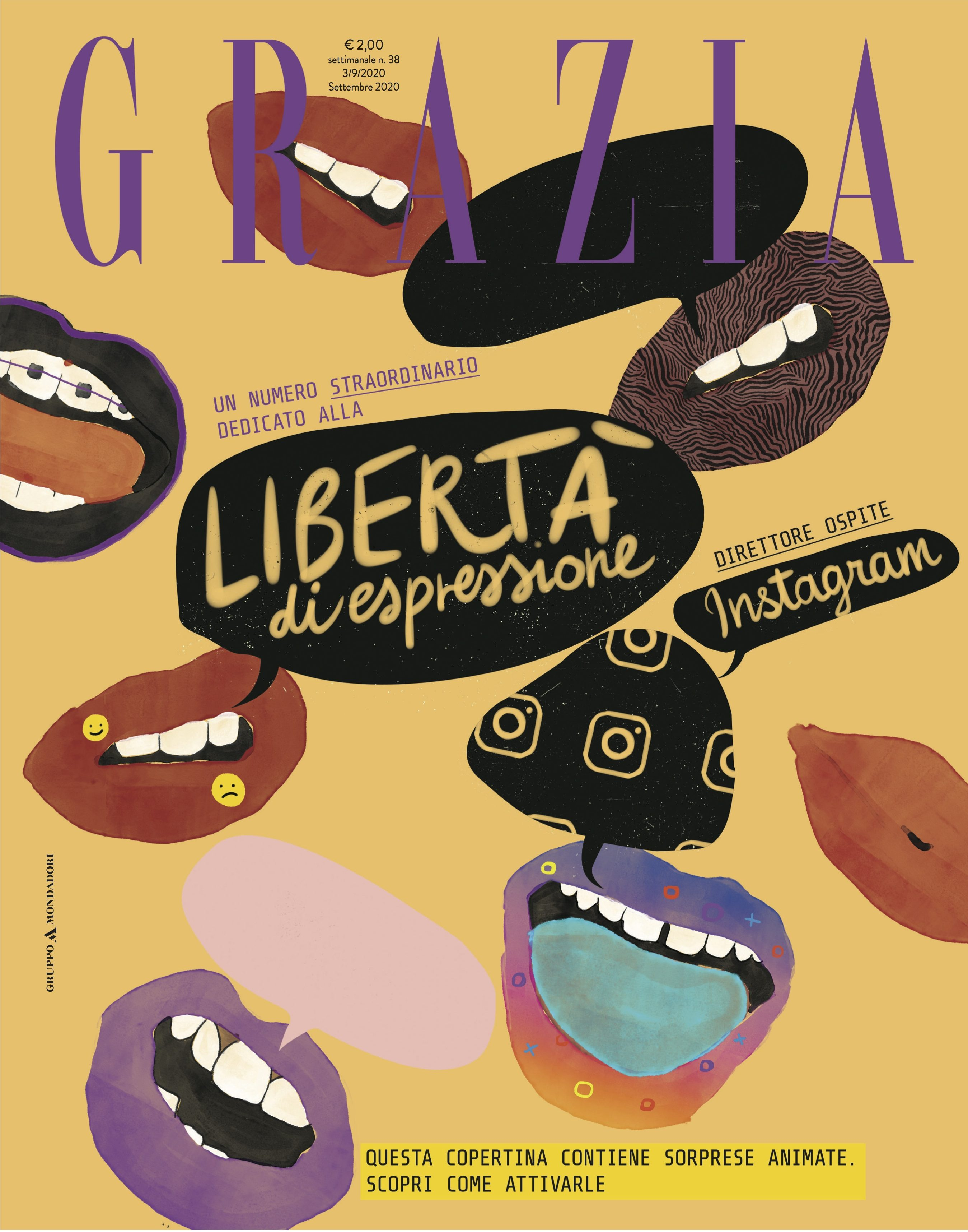 The cover of the upcoming issue of Grazia Italia.