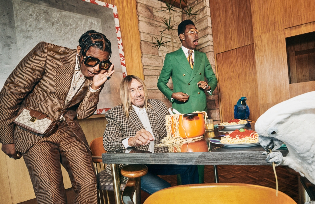 Gucci's new men's tailoring campaign.
