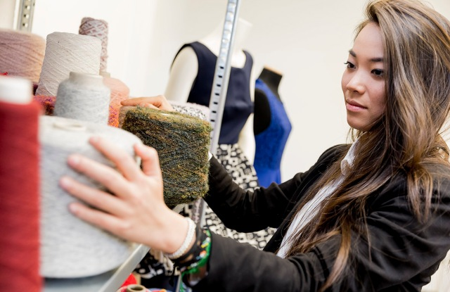 A fashion student at IED.