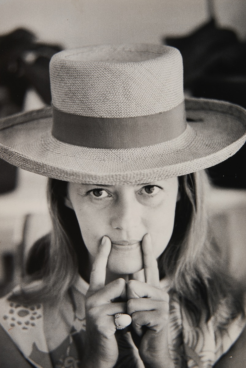 A circa 1970 photograph of Jeanne Moreau by Slim Aarons