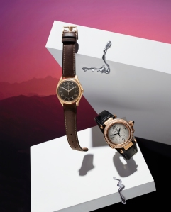 An image from the campaign promoting the Watches & Wonders collaboration with Net-a-porter and Mr Porter.