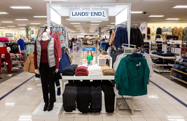 Kohl's is piloting Lands' End presentations inside 150 stores.