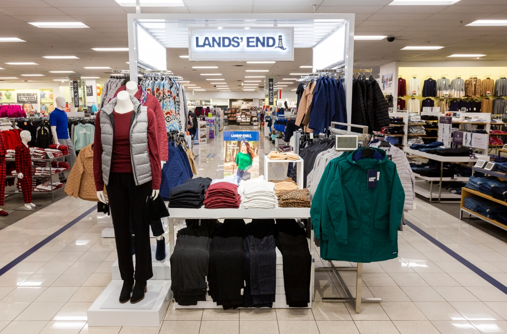 Kohl's is piloting Lands' End presentations inside 150 stores.