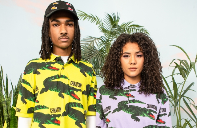 Looks from the Lacoste x Chinatown Market collection.
