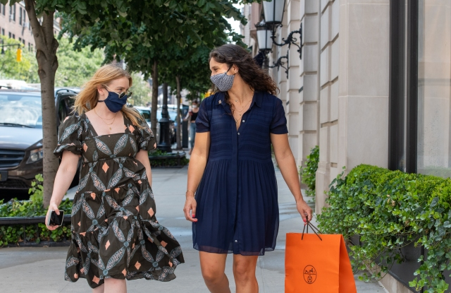 Madison Avenue shoppers in August.
