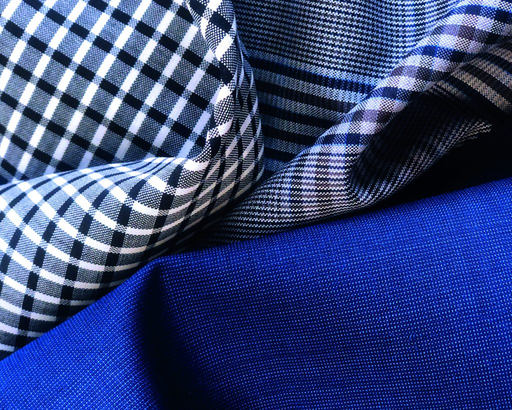 Fabrics from the Marzotto Wool Manufacturing company for fall 2021.
