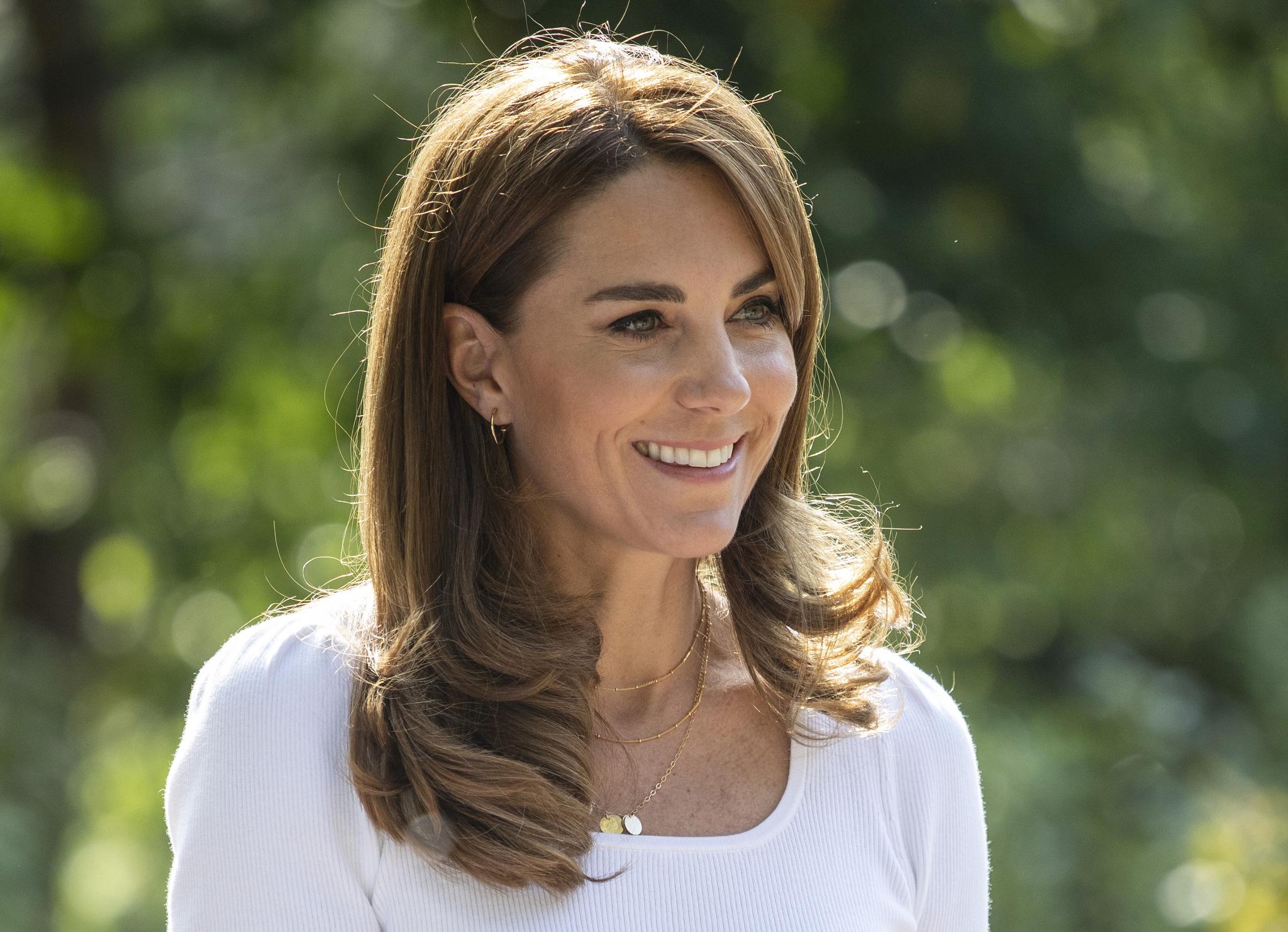 Kate Middleton in Battersea Park, London UK, on the 22nd September 2020.