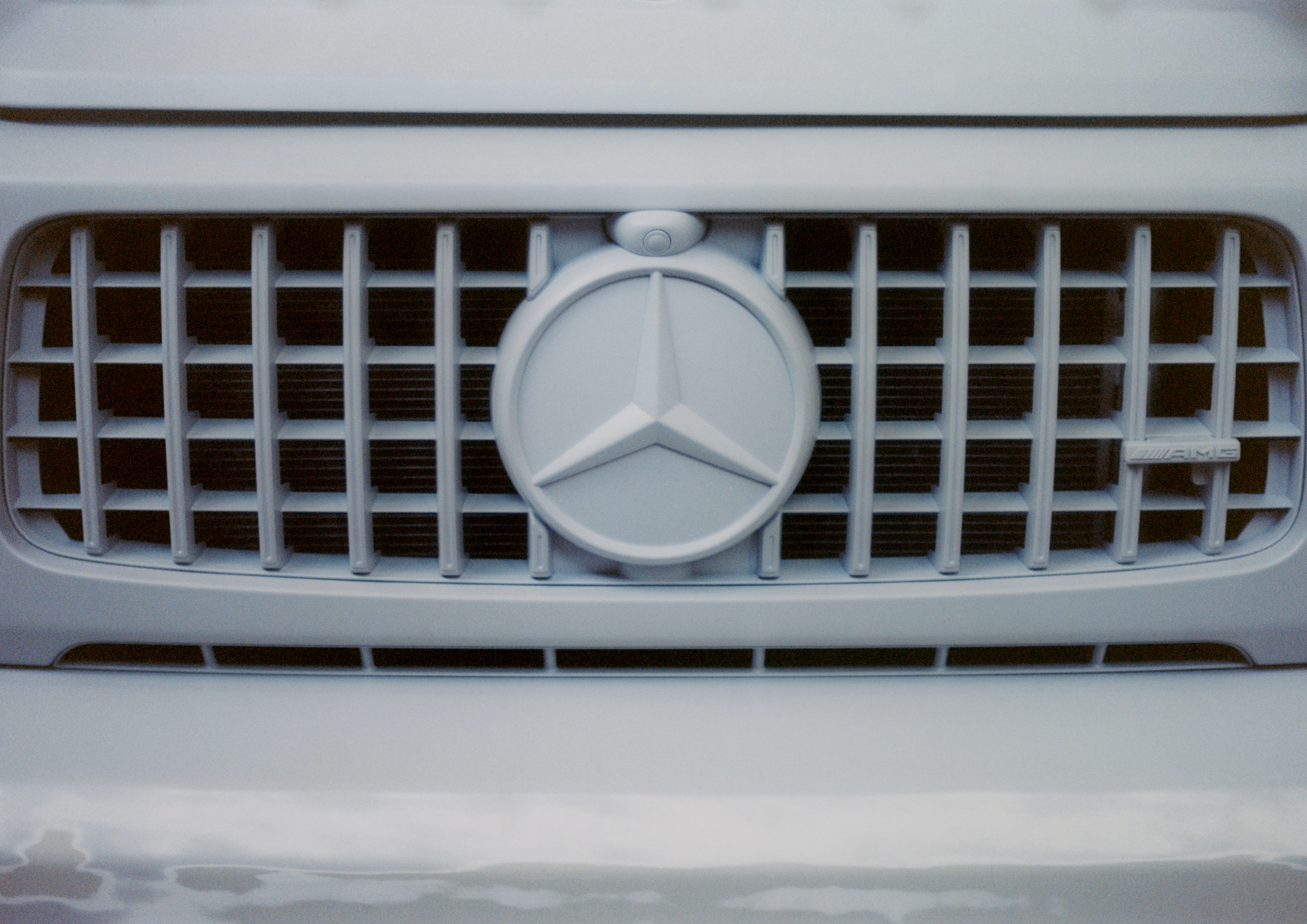 A detail of the Project Geländewagen collaboration between Virgil Abloh and Mercedes-Benz.