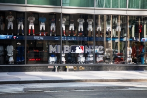 The MLB flagship is located across from Radio City Music Hall.