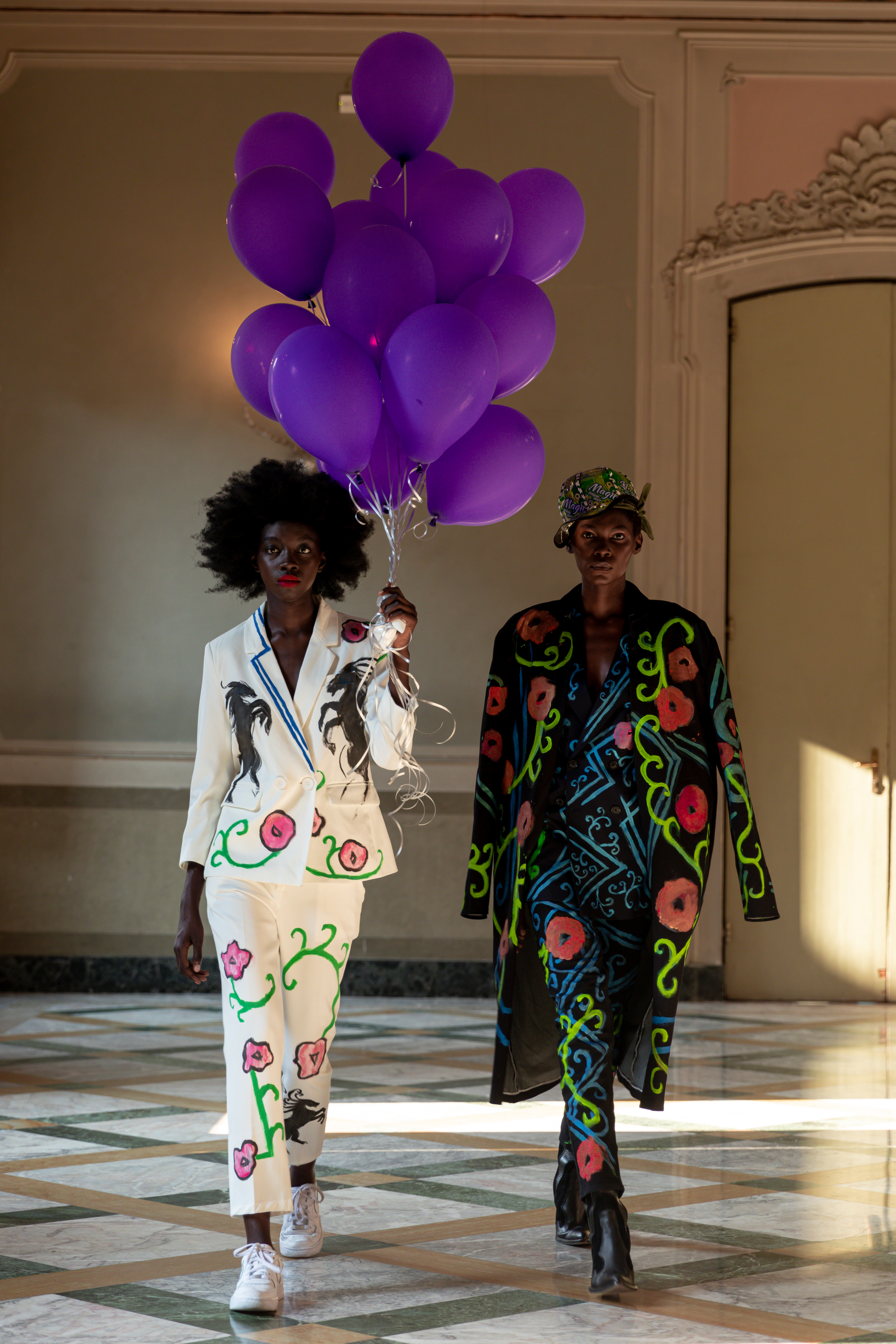 Looks from the Mokodu Fall's spring 2021 collection.