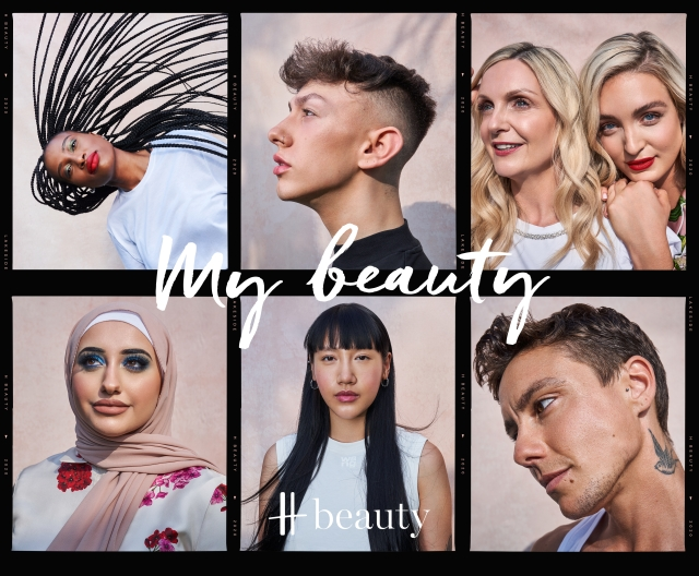 Campaign imagery for Harrods' H Beauty concept.