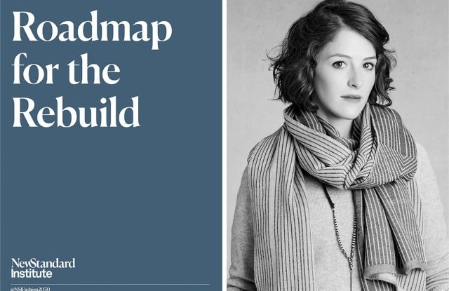 From Right: Maxine Bédat, The New Standard Institue's 'Roadmap for the Rebuild'