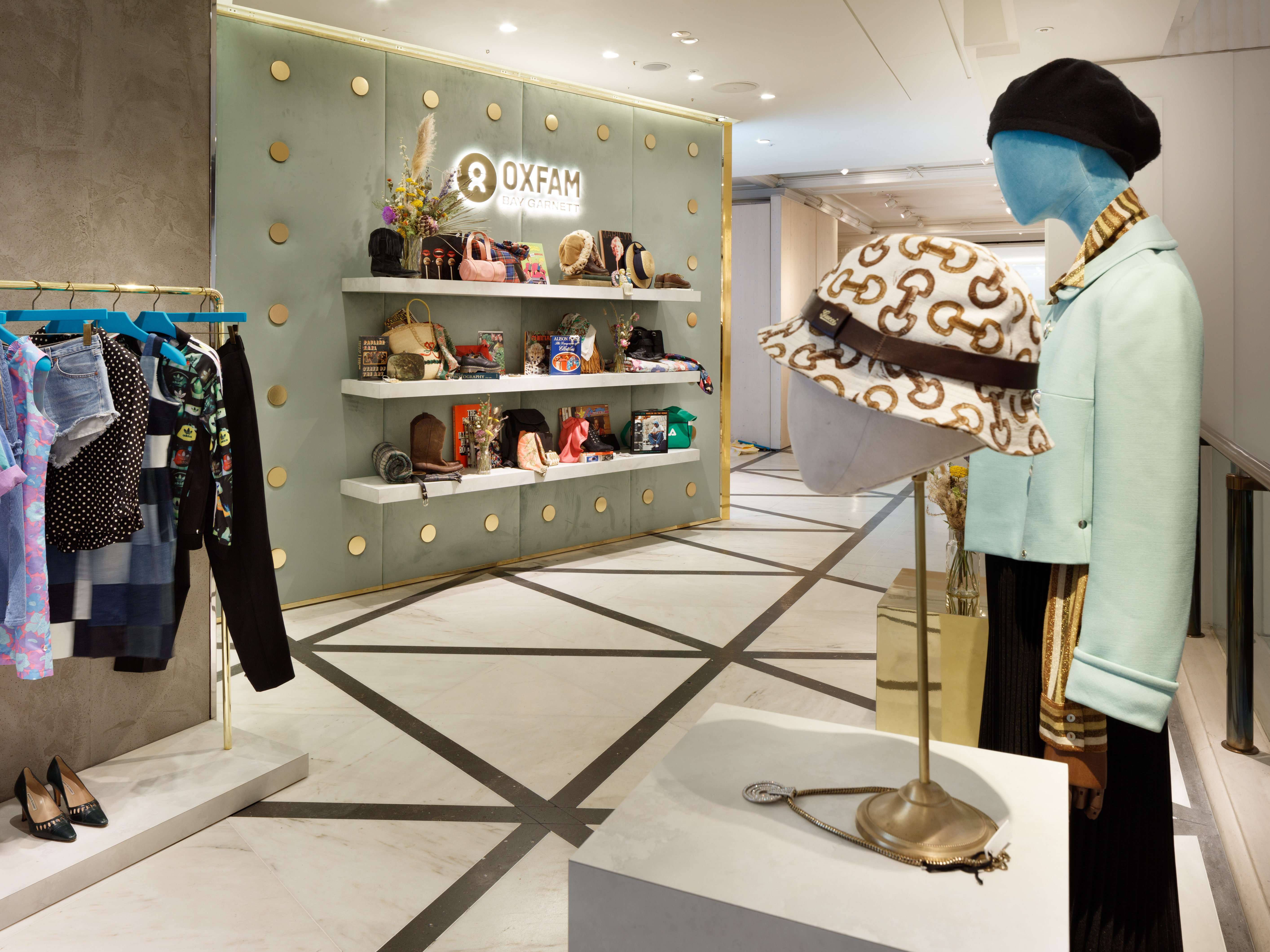 The Oxfam x Bay Garnett for Selfridges pop-up shop, which opened on Sept. 7.