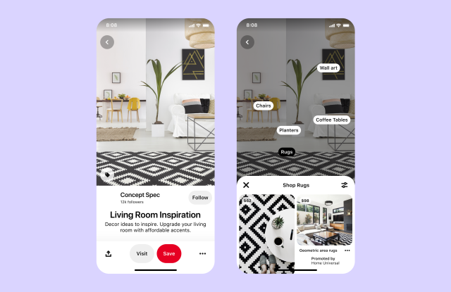 Ads are coming to visual search on Pinterest.