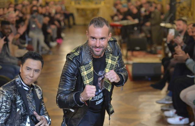 Philipp Plein at his Men's Fall 2019 show in Milan.