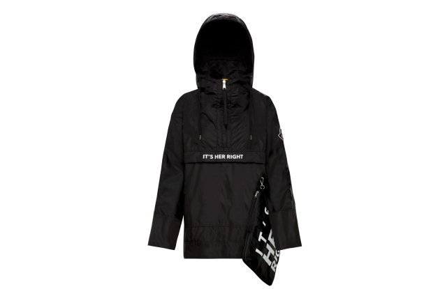 The 2 Moncler 1952 anorak developed with Girl Up.