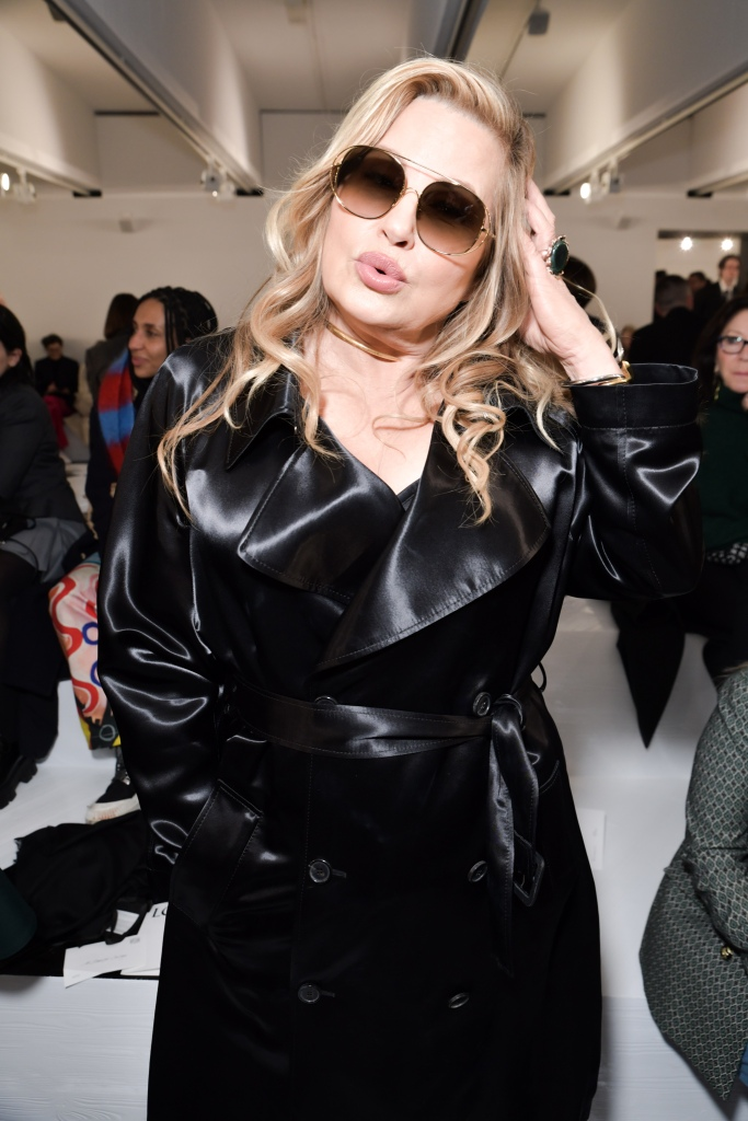 Jennifer Coolidge in the front row at Loewe RTW Fall 2020