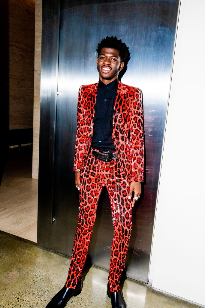 Lil Nas X in the front row at Tom Ford RTW Fall 2020