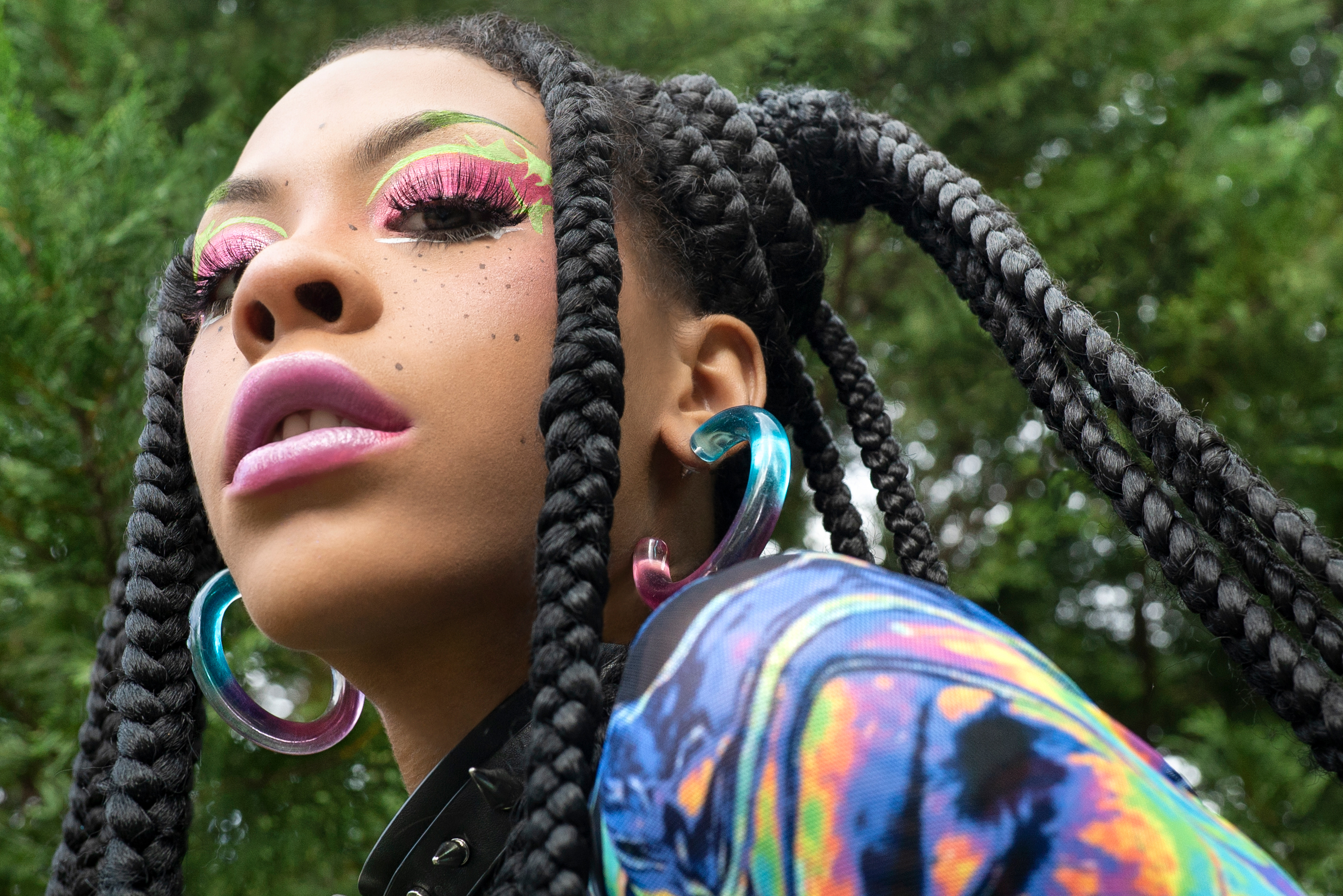 Rico Nasty makeup collaboration with Il Makiage