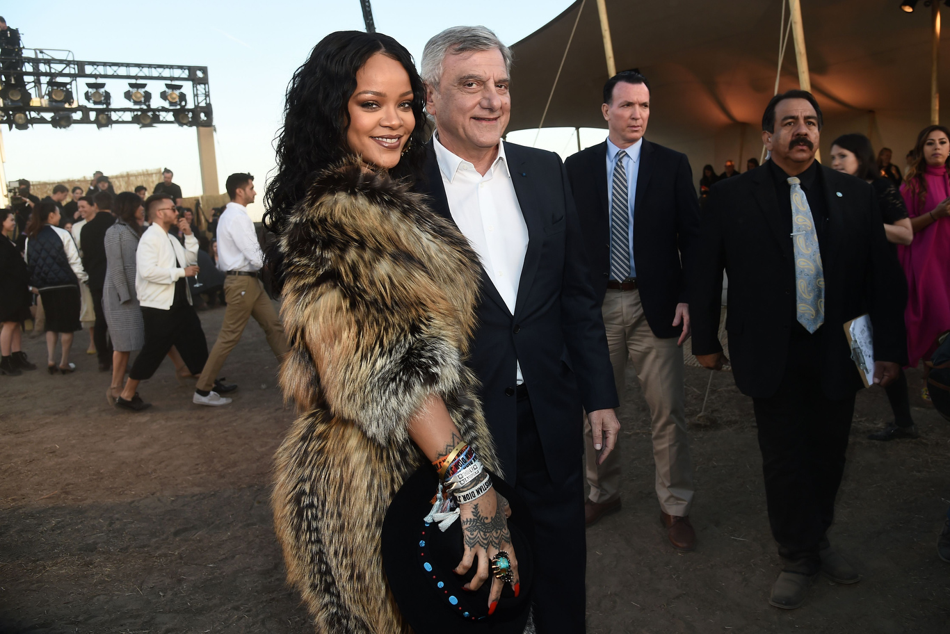Rihanna and Sidney Toledano in the front row