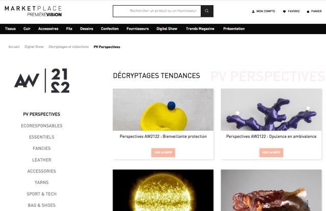A look at the Première Vision Paris' marketplace.