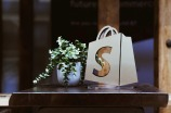 shopify logo on bag
