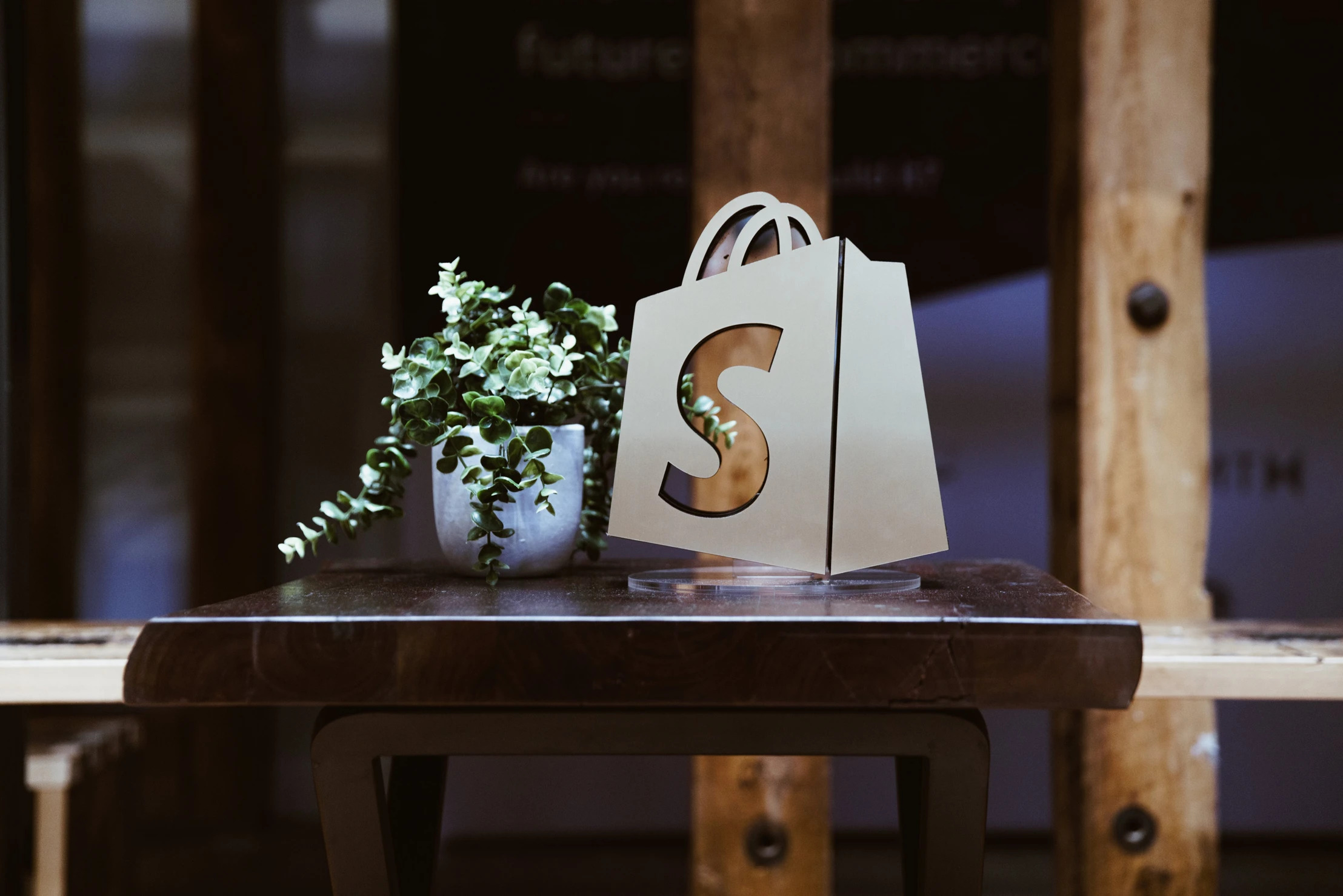 shopify logo on bag