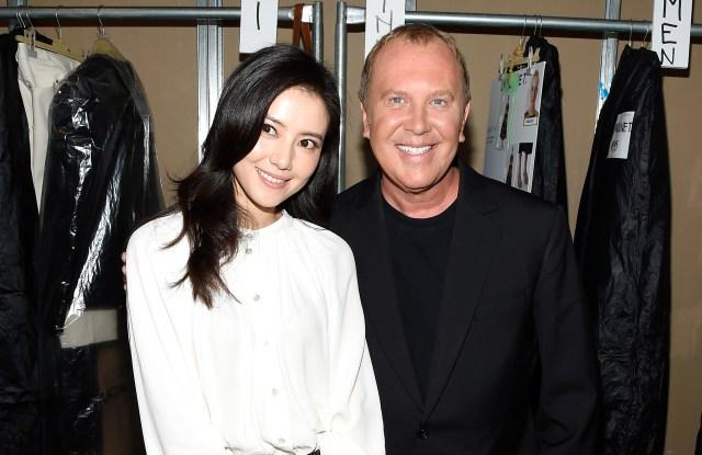 Chinese actress Gao Yuanyuan and Michael Kors